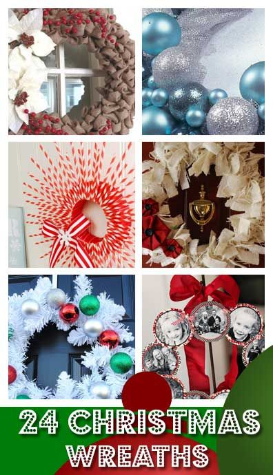 Click Pic for 24 DIY Christmas Wreaths