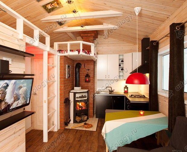 Мини-дом Кораблик - Tiny cabin interior