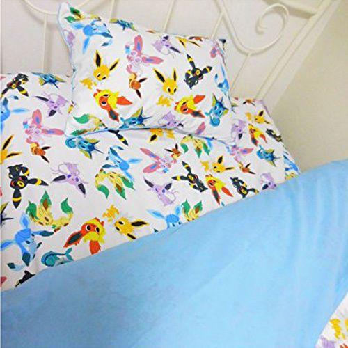 pokemon center japan pokemon time eevee collection bedding bed pillow sheet set