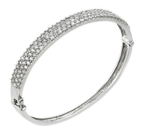 7mm Pave Cz Sterling Silver Bangle Bracelet 7'' Shop4Silver. $120.25. Approximate Width: 7 MM (0.27 INCHES). Save 54% Off!