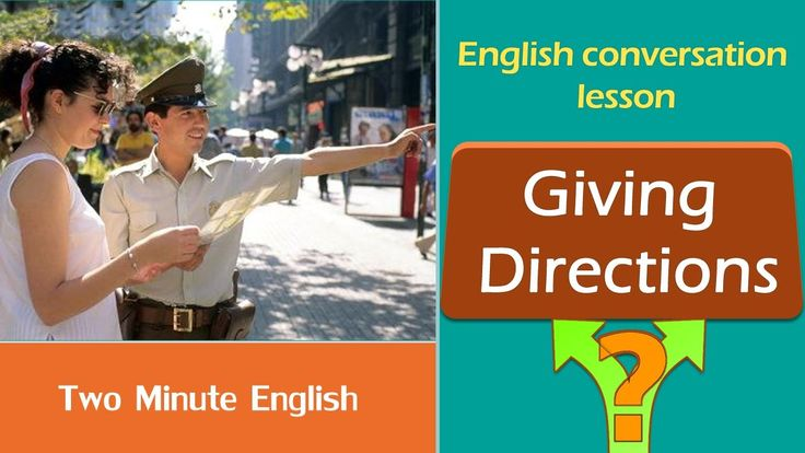 Giving Directions - Learn How to Give Directions in English - Speak Engl...