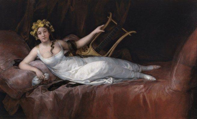 Francisco de Goya. 'La marquesa de Santa Cruz' 1805. Óleo sobre lienzo 124,7 x 207,7 cm Museo Nacional del Prado, Madrid