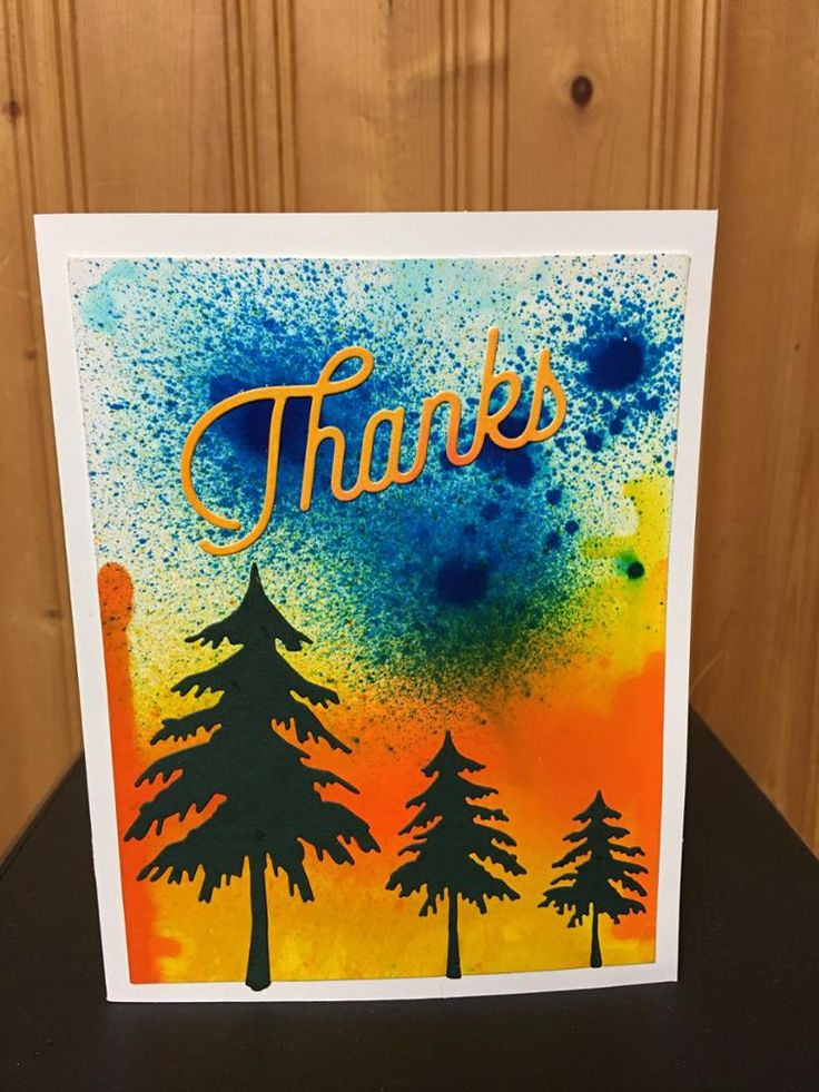 Bold and Bright Thanks Card | Craftsy