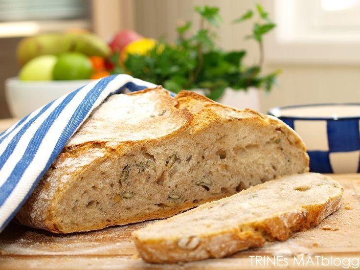 Eltefritt halvgrovt brød med gresskarkjerner