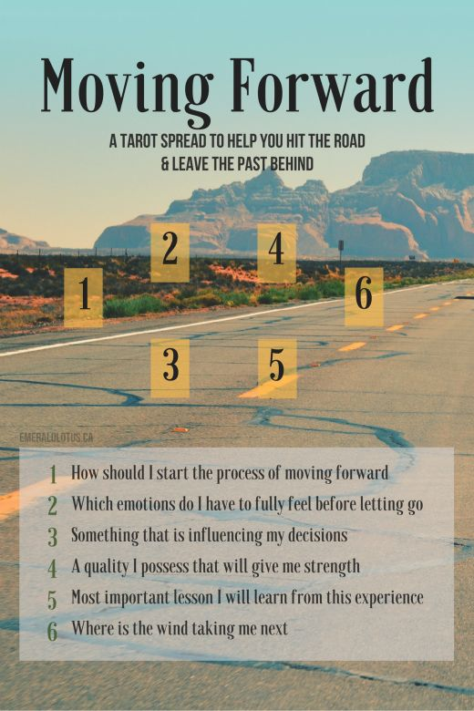 Tarot Spread – Leaving the Past Behind Spread | Oracle Cards | Divination Layout