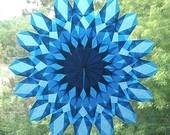 Blue Waldorf window star.