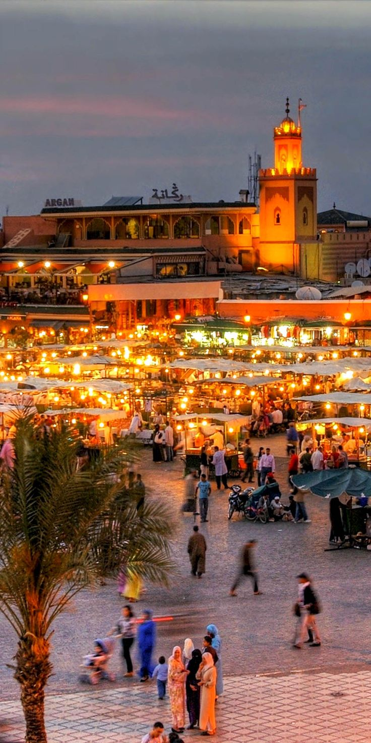 The UNESCO square Djemaa El-fna at marrakesh, Morocco    |    20 Photos that Prove Morocco is a Dream Destination. http://reversehomesickness.com