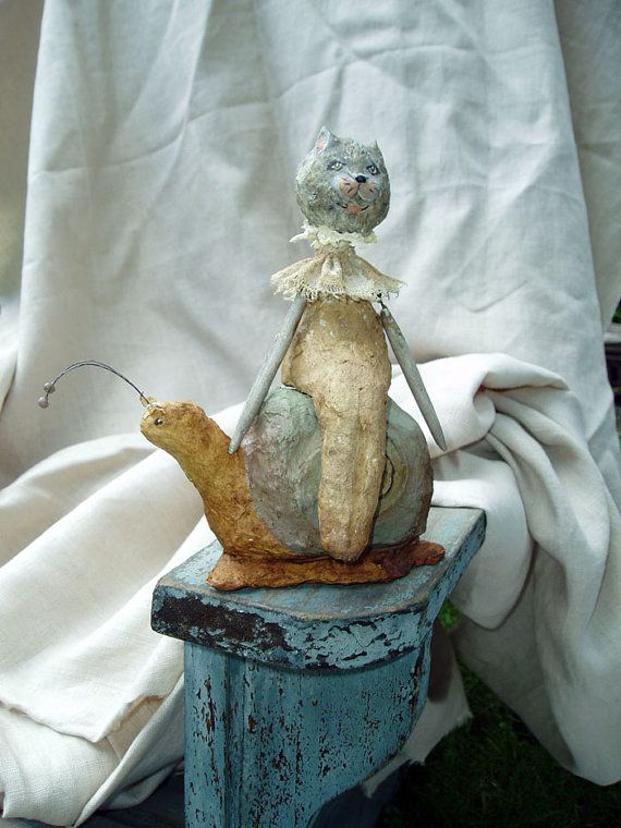 how to make a figurine out of paper mache