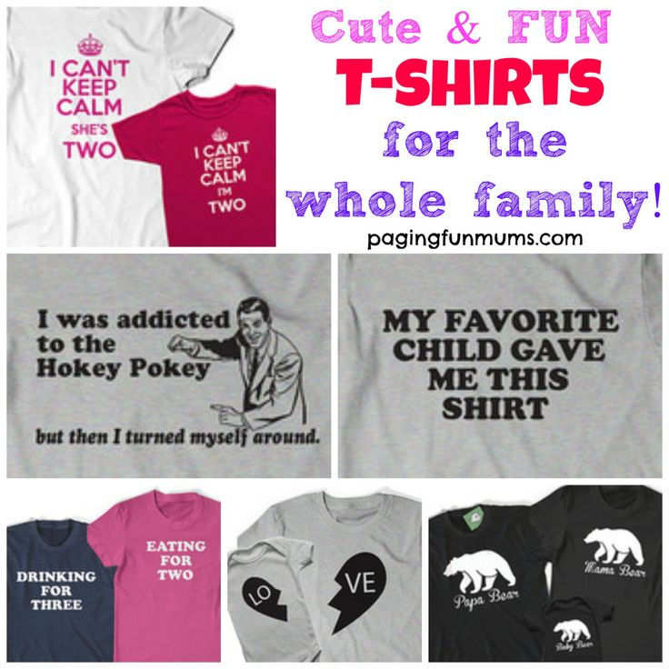 Cute & Fun T-shirts for the whole family - featured Etsy Store :http://pagingfunmums.com/2015/04/24/cute-fun-t-shirts-for-the-whole-family-featured-etsy-store/