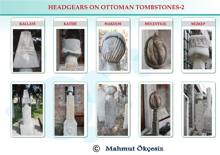 Occupations on Ottoman tombstones, group two