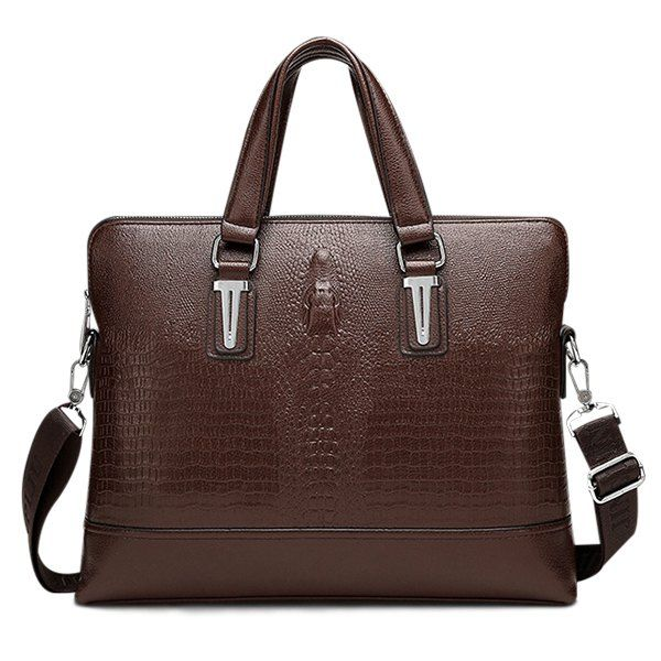 Embossing Dark Colour Metal Briefcase #jewelry, #women, #men, #hats, #watches, #belts, #fashion
