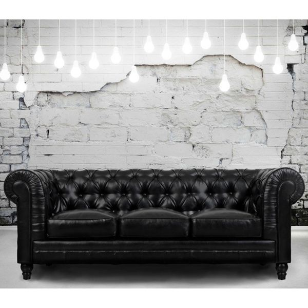 2018 Latest Black And White Leather Sofas: 1000+ Ideas About Black Leather Sofas On Pinterest