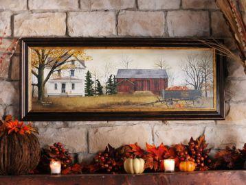 Pumpkins for Sale Framed Art Print