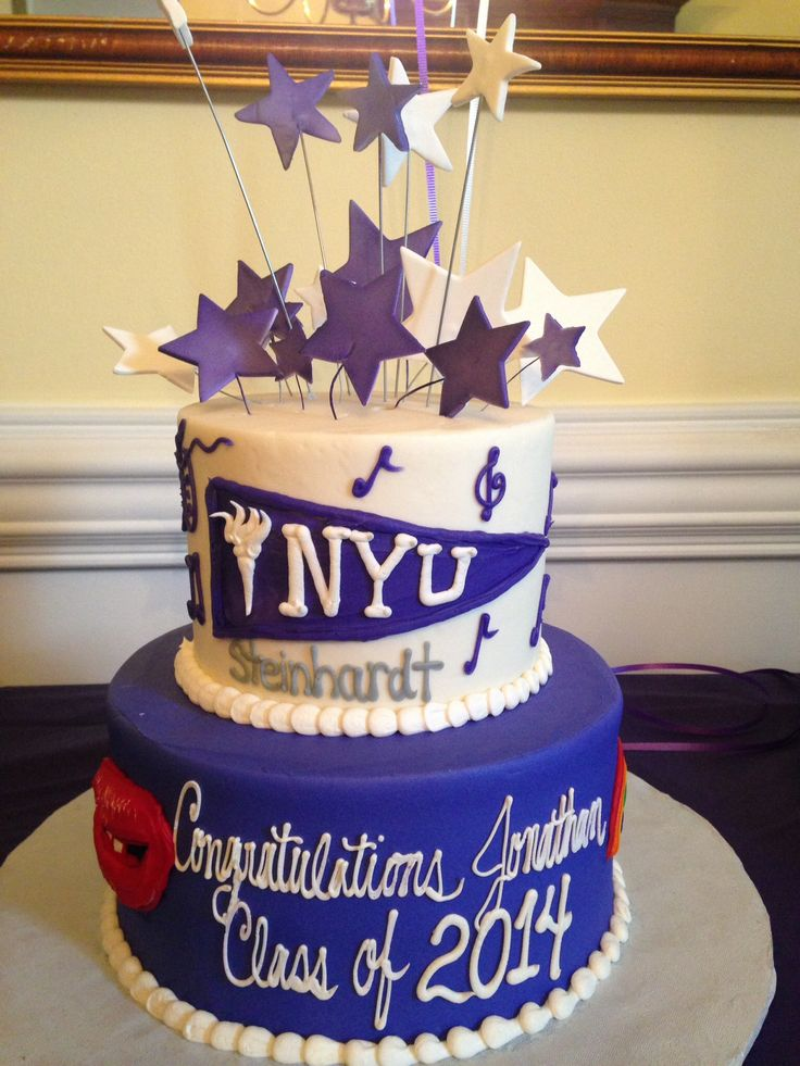 Loved this NYU graduation cake from Clays Bakery