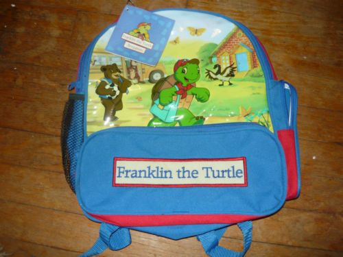 PBS 2000 Franklin The Turtle Lot Kids Back Pack NEW Turtles