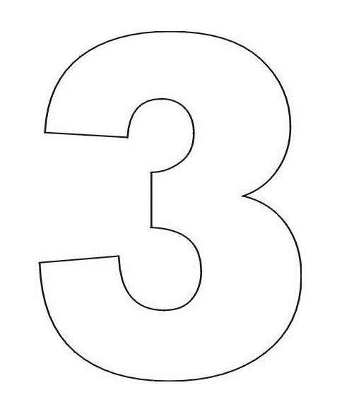 Number 3 Coloring Pages Printable  Com Imagens
