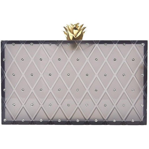Pre-owned Charlotte Olympia Clutch Bag ($333) ❤ liked on Polyvore featuring bags, handbags, clutches, grey, women bags clutch bags, embellished handbags, acrylic purse, gray handbags, pineapple purse and charlotte olympia clutches