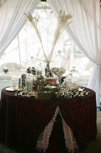 Steampunk Wedding Table Decorations
