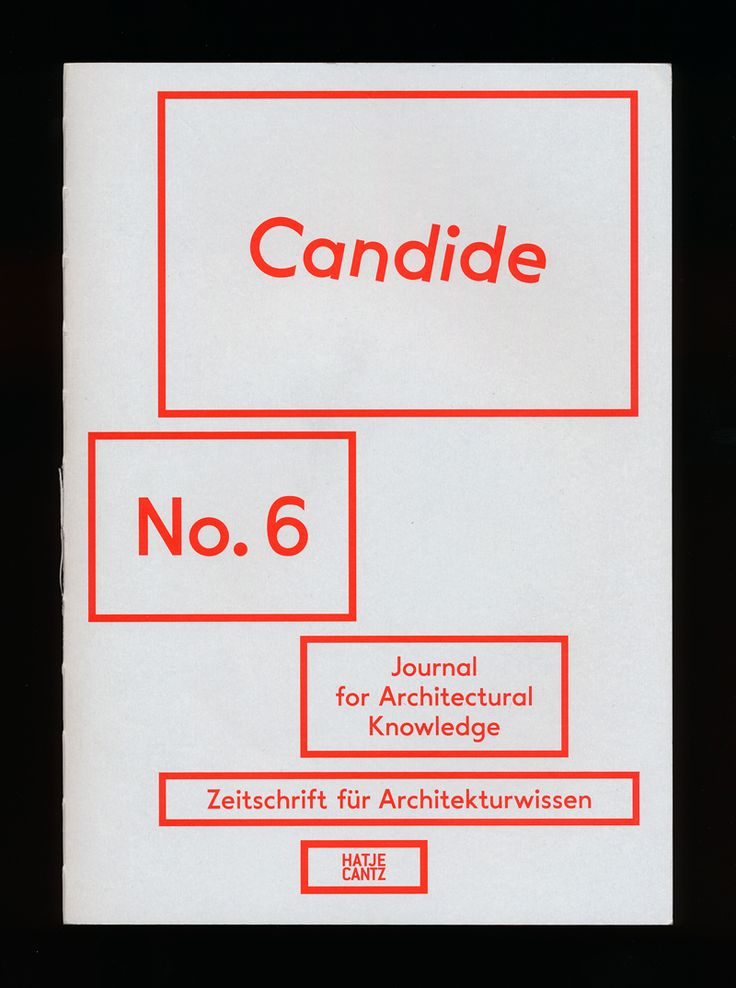 """""""Candide is dedicated to exploring the culture of knowledge specific to architecture."""""""