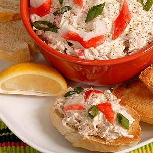 King Crab Dip - This Recipe is appropriate for ALL 4 Phases of the Atkins Diet. Join Atkins today to sign up for your Free Quick-Start Kit including 3 Atkins Bars and gain access to Free Tools and Community, as well as over 1,500 other Free Atkins-friendly Recipes.