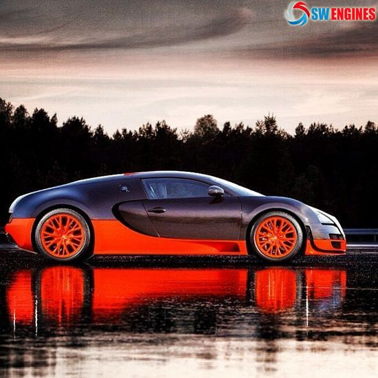 Slick Bugatti Veyron Riding On Water