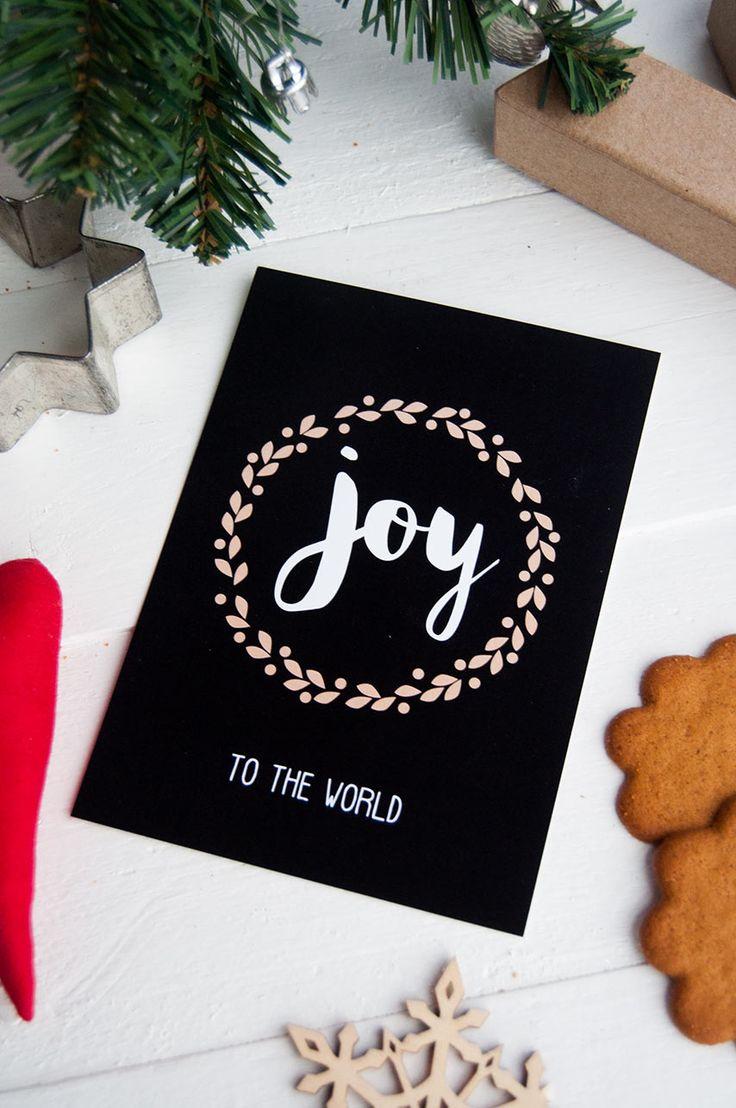 Joy to the World, Christmas Card/Joulukortti korttikaupasta  www.papellia.fi