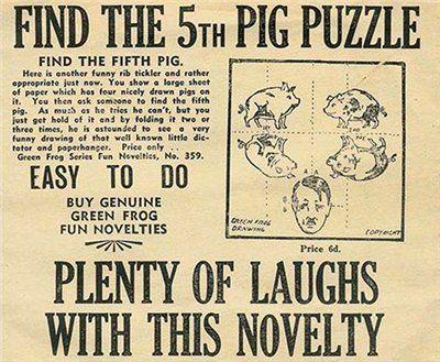 Найди пятую свинью: британская антифашисткая головоломка. Пропаганда союзников СССР. История пропаганды