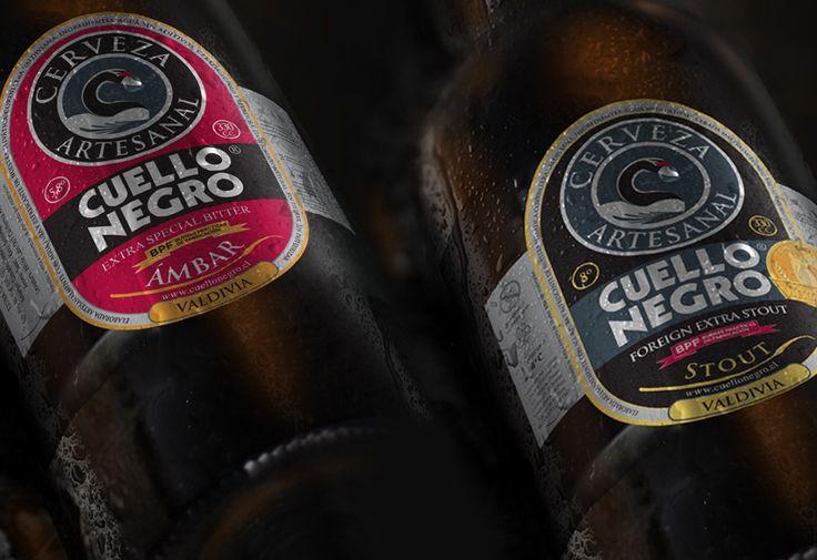 Diseño de etiquetas Cerveza Cuello Negro