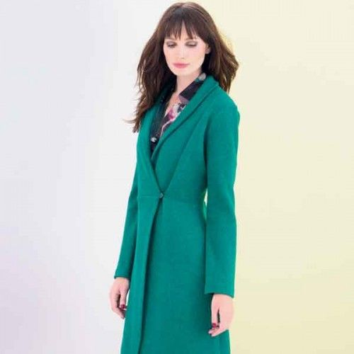 Pattern wool cardigan long (post pattern) | Women | Knipmode | Knipmode