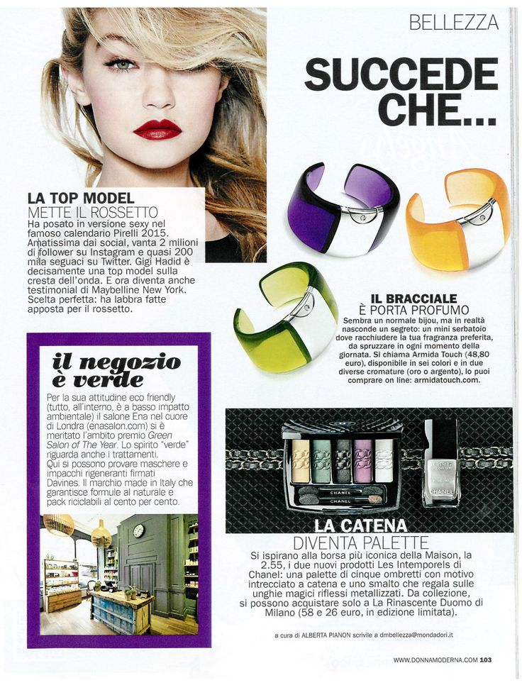 Donna Moderna magazine choose @armidatouch! thanks a lot.. find more colours at www.armidatouch.com