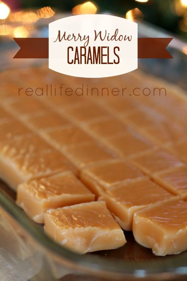 Merry Widow Caramels are the most perfect caramels out there. I included step by step pictures and instructions with the recipe to help feel more confident. ~ http://reallifedinner.com