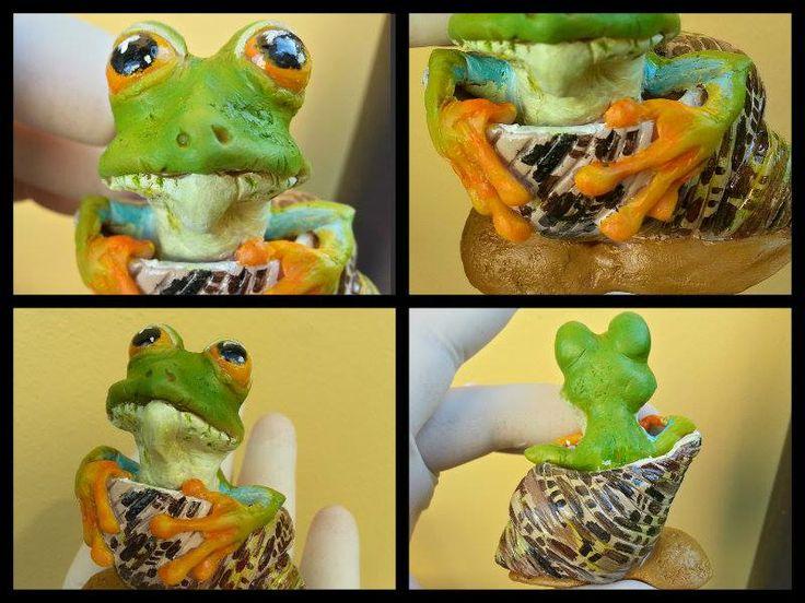 frog handmade polymer clay https://www.facebook.com/Whitewolf.handmade