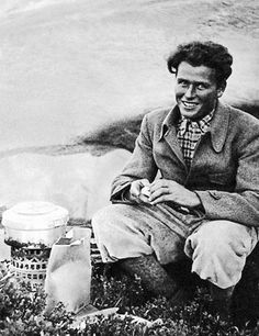 TONI KURZ photographed July 1936 just before the climb the Eiger