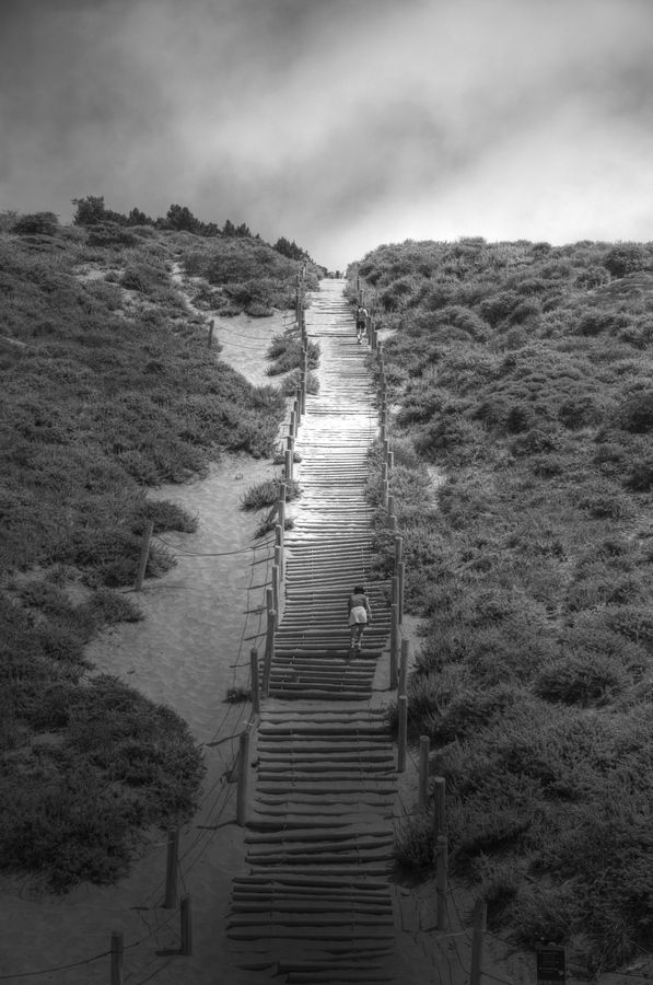 Stairs at Baker Beach.  I ran up these in the Escape From Alcatraz Triathlon back in 2008