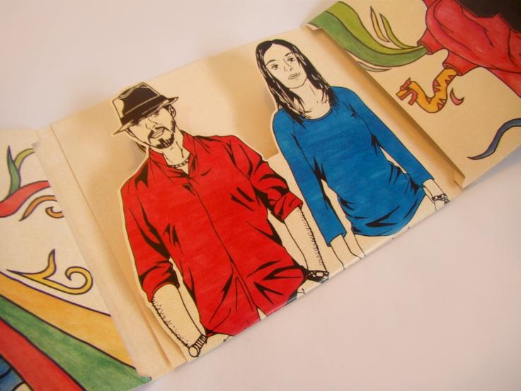 Inside Flaps // Sonrojo CD case design // by Maha Elmadani
