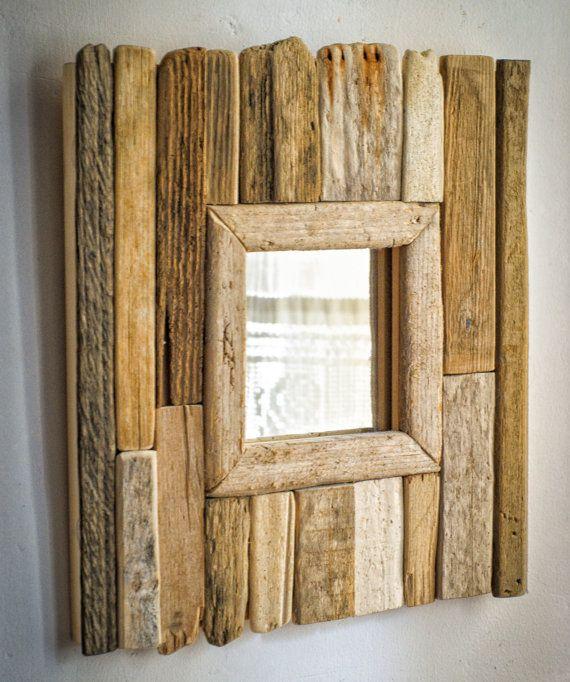 Miroir bois flotté miroir à la main Upcycled miroir par MarzaShop