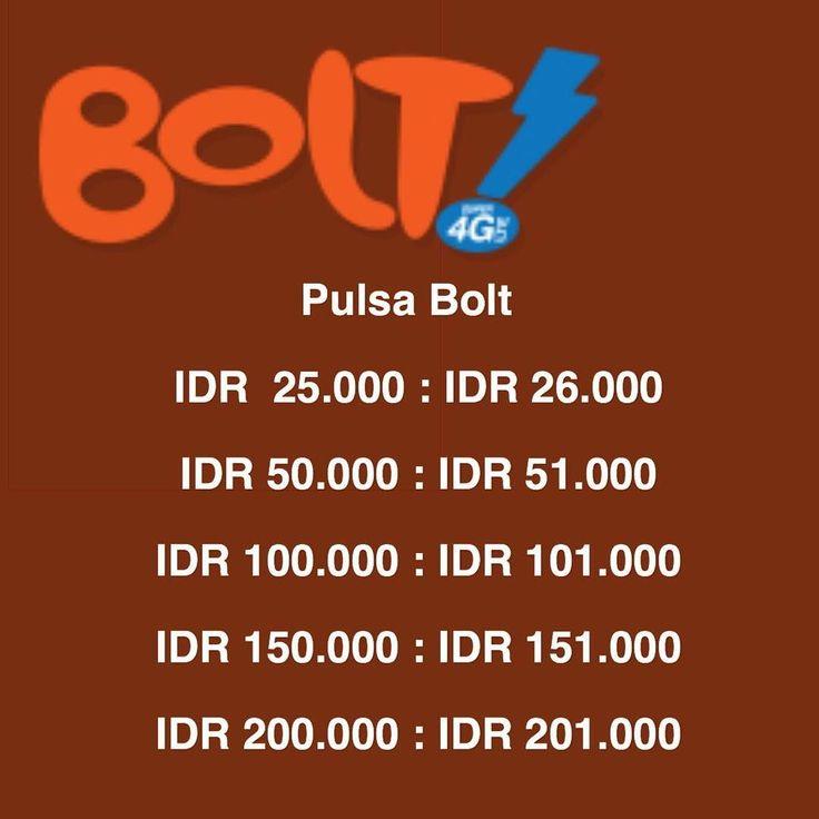 Isi pulsa Bolt kamu biar bisa terus download !