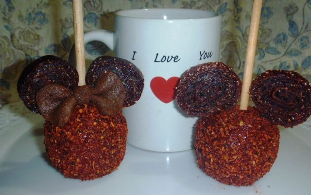 Mickey & Minnie apples covered in Tamarindo!!!