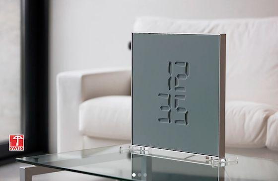 彫刻のようなデジタル時計『Etch Clock』