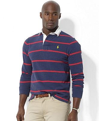 Polo ralph lauren big and tall shirt long sleeve stripe for Long sleeve striped rugby shirt