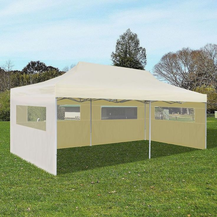 Pop Up Tent Garden Canopy Party Gazebo Patio 10' x 20' Cream Outdoor Foldable  #vidaXL