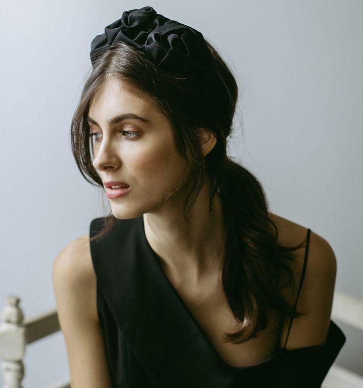 Rosette Headband by Jennifer Behr- Turban // draped headpiece