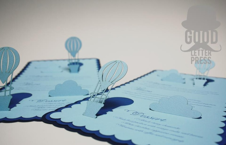 Laser Cut Pop Up Wedding Menu...