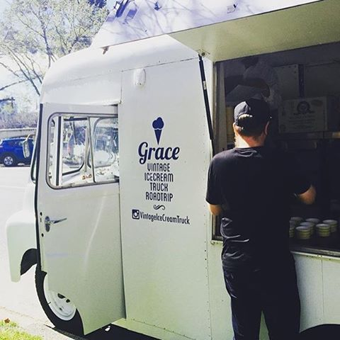 """Setting up on Sunday in South Yarra.  Great of Grace the ice cream truck by our scooper @lilylauren. _"""