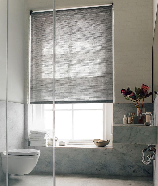 Roller Shades Naturals   Practical And Stylish. Shown In Material Jackson,  Color Cafe. Bathroom WindowsBathroom ...