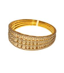 Buy Exclusive Designer White Pearl Bangle bangles-and-bracelet online