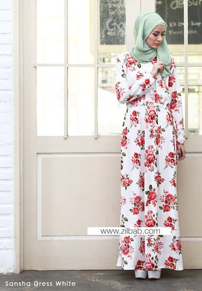 Sansha Dress White - Klik gambar untuk melihat detail dan harga produk Juniperlane di website zilbab.com. Hijab, Jilbab, Fashion Hijab, Juniperlane Hijab, Hijabi, Juniper Hijab, Juniper Lane.