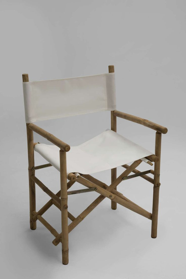 Kenzo Director Chair, Καρέκλα σκηνοθέτη μπαμπού σε φυσικό χρώμα.