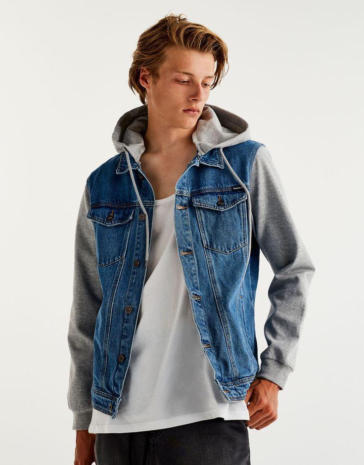 Hugh Laughton Scott Pull And Bear Stylish Jackets Hooded Denim Jacket Jean Jacket Outfits