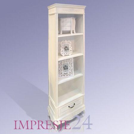 "Regał z serii Elegance | ""Elegance"" bookshelf #regał #elegancki #stylowy #biały #meble #bookshelf #shelf #elegant #white #furniture #inetrior #decor"